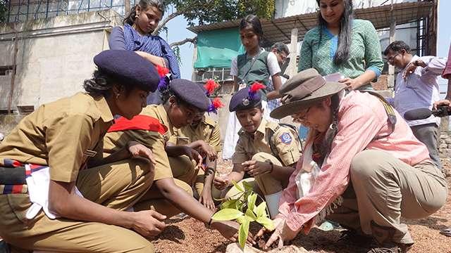 Dr Kazue Fujiwara Planting of Miyawaki forest Government School for Girls, Chalai